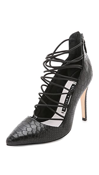Alice + Olivia Tahara Cage Pumps - Black