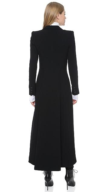 alice + olivia Talia Pleated Back Long Coat