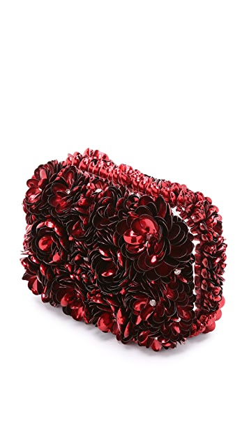 alice + olivia Rose Shard Clutch