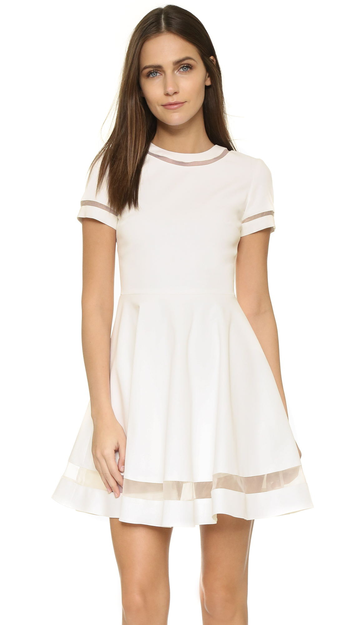alice   olivia Frances Mini Flared Dress | SHOPBOP
