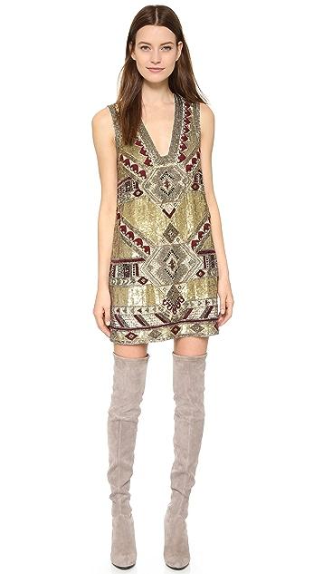 alice + olivia Odell Embellished Caftan Mini Dress