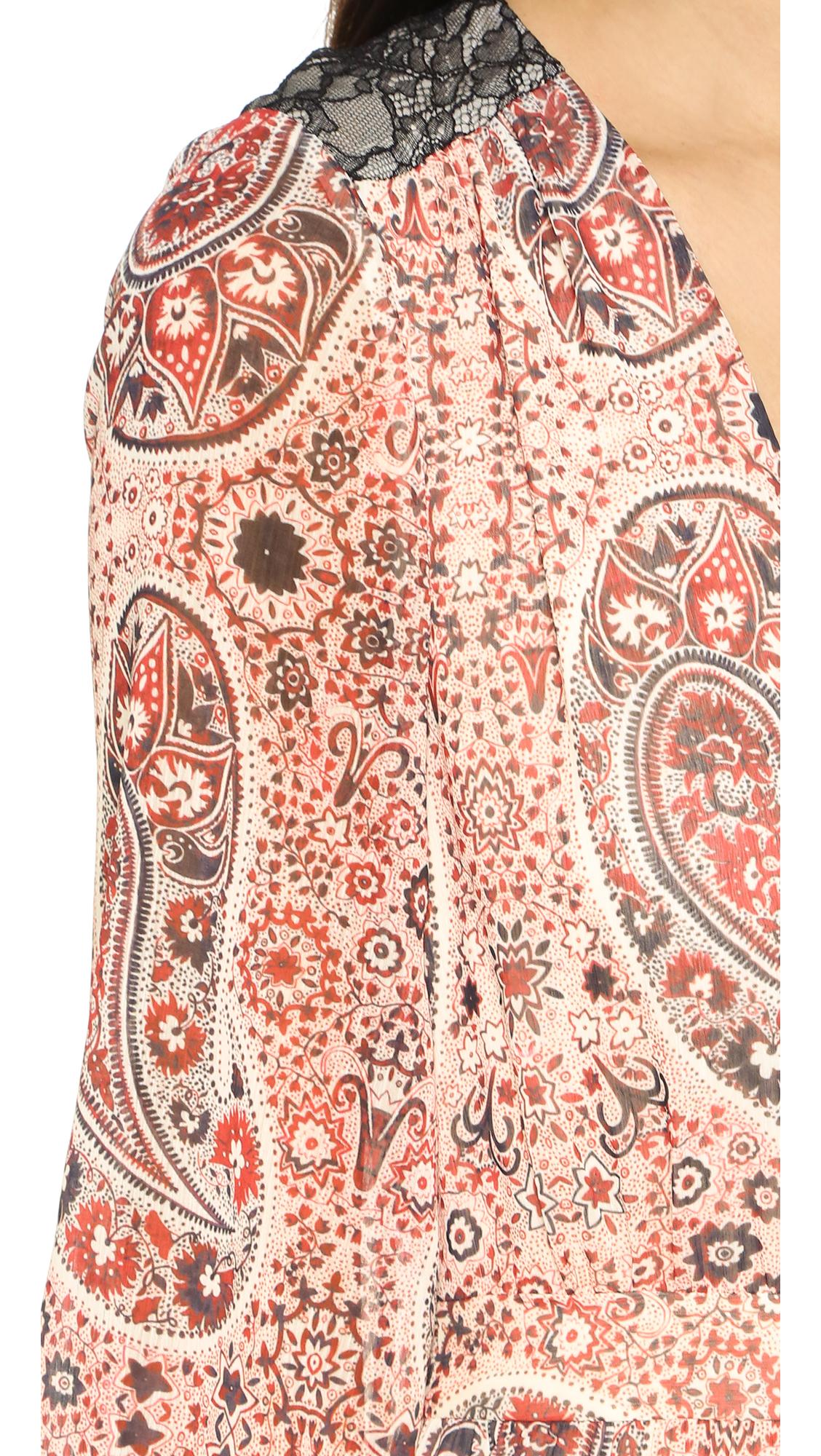 88c524964d alice + olivia Daren V Neck Maxi Dress