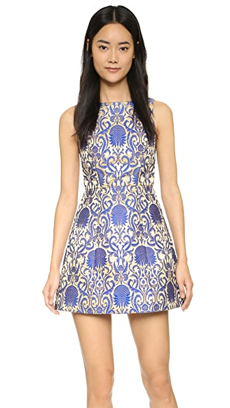Alice + Olivia Carrie Dress - Gold/Blue at Shopbop