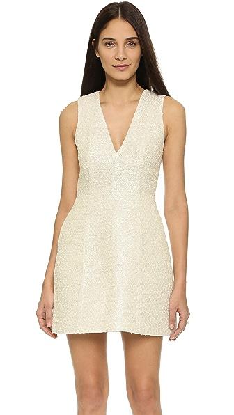 alice + olivia Pacey Low V Lantern Dress