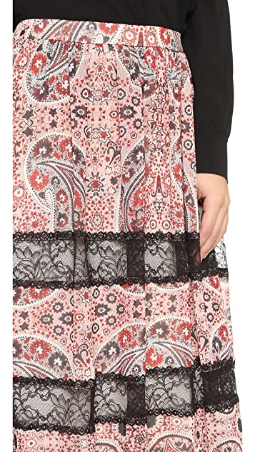 alice + olivia Hetty Gathered Maxi Skirt