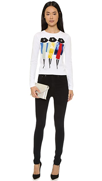 alice + olivia Triple Threat Stacey Sweater