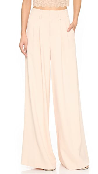 Alice + Olivia Eloise Wide Leg Trousers - Blush