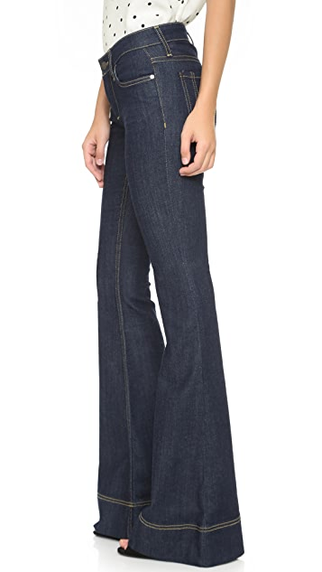 alice + olivia Low Rise Bell Jeans