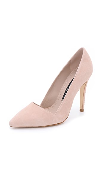 Alice + Olivia Dina Suede Pumps - Nude Lips