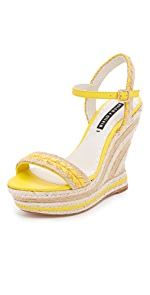 Janaya Wedge Sandals                alice + olivia