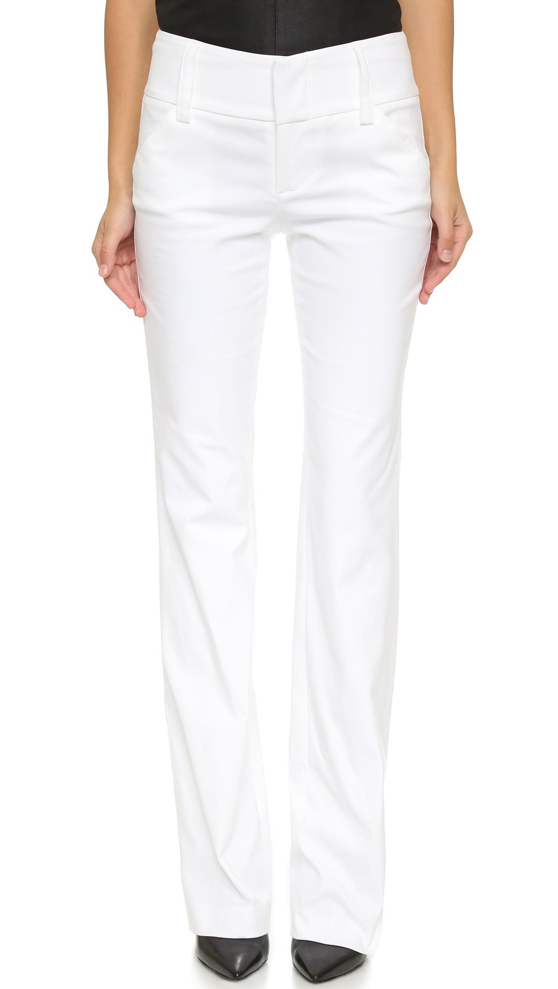 Alice + Olivia Olivia Wide Waistband Pants - White at Shopbop