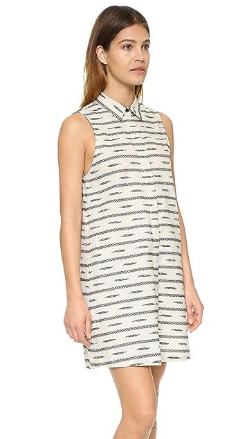 alice + olivia Isabelle Sleeveless Shirtdress