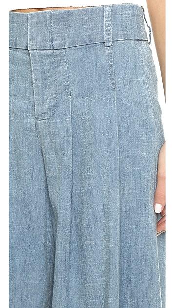 alice + olivia Scarlet Darted Wide Leg Pants