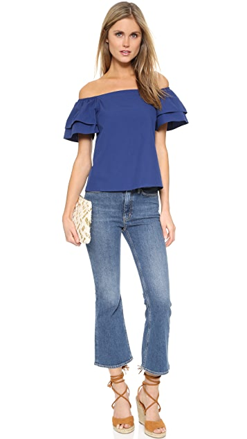alice + olivia Loryn Off Shoulder Top
