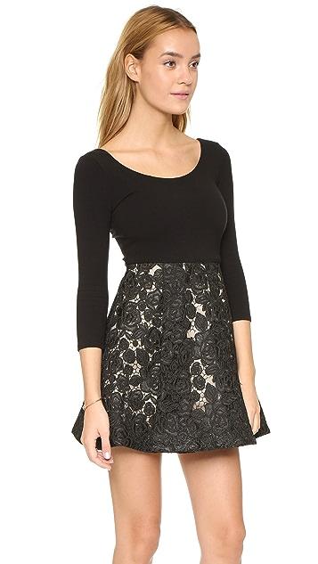 alice + olivia Amie Scoop Neck Dress