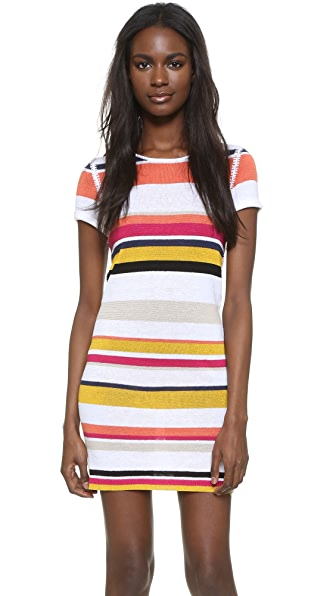 Alice + Olivia Rozlyn Knit Dress - Carnival Stripe