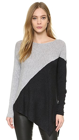 alice + olivia Colorblocked Bias Boxy Pullover