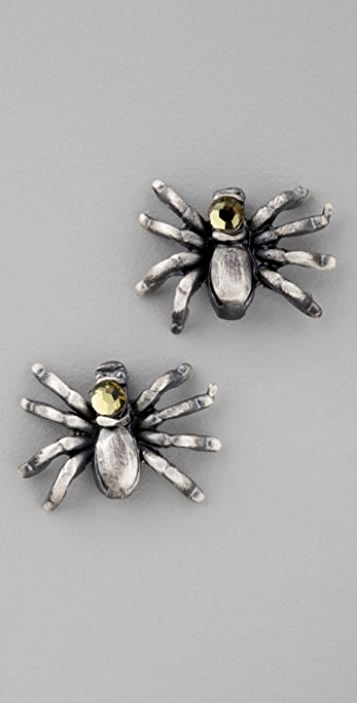 Alkemie Jewelry Spider Stud Earrings