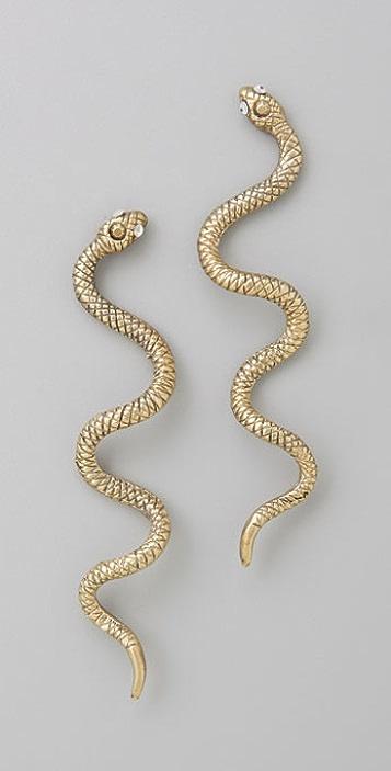 Alkemie Jewelry Long Snake Earrings