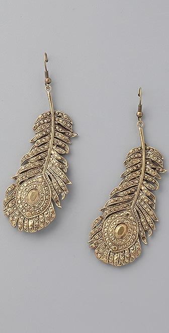 Alkemie Jewelry Peacock Feather Earrings