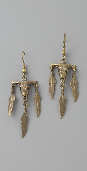 Alkemie Jewelry Bull Skull Earrings