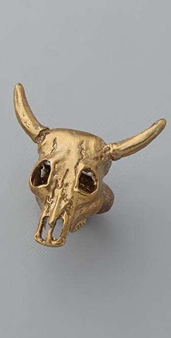 Alkemie Jewelry Skull Bull Ring