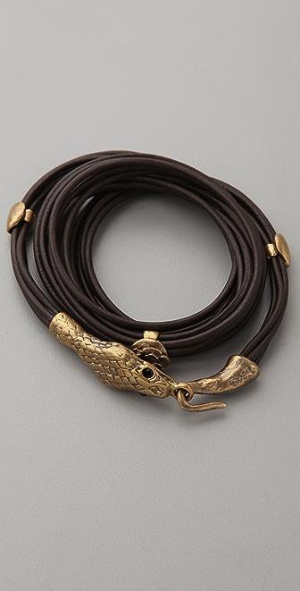Alkemie Jewelry Snake Head Wrap Bracelet