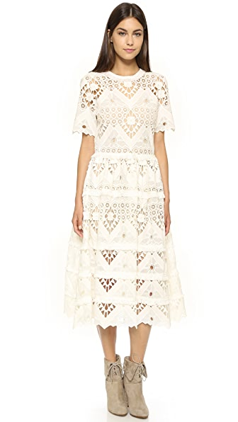 Alexis Benati Crochet Midi Dress