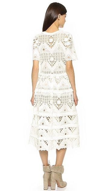 Alexis Benati Crochet Midi Dress