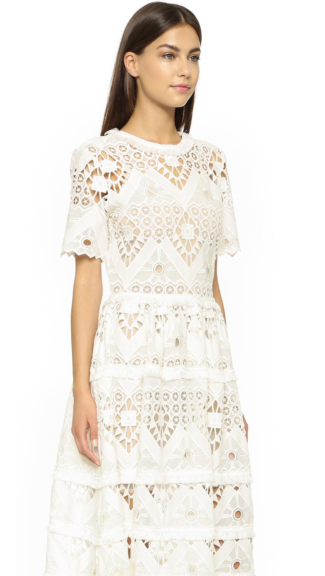 025b0aadaf40 Alexis Benati Crochet Midi Dress   SHOPBOP