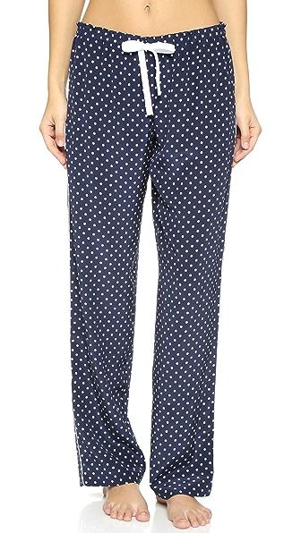 Alessandra Mackenzie Piped Pajama Pants - Navy/White Dot at Shopbop