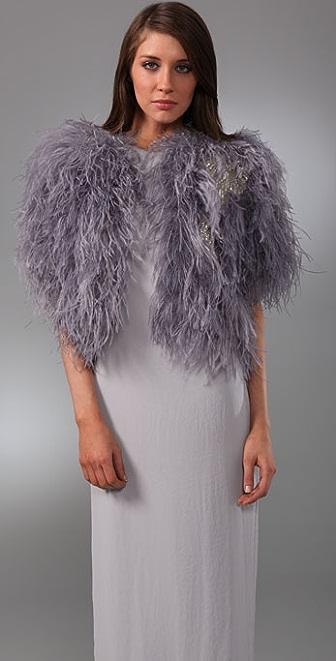 Ambre Babzoe Ostrich Jacket