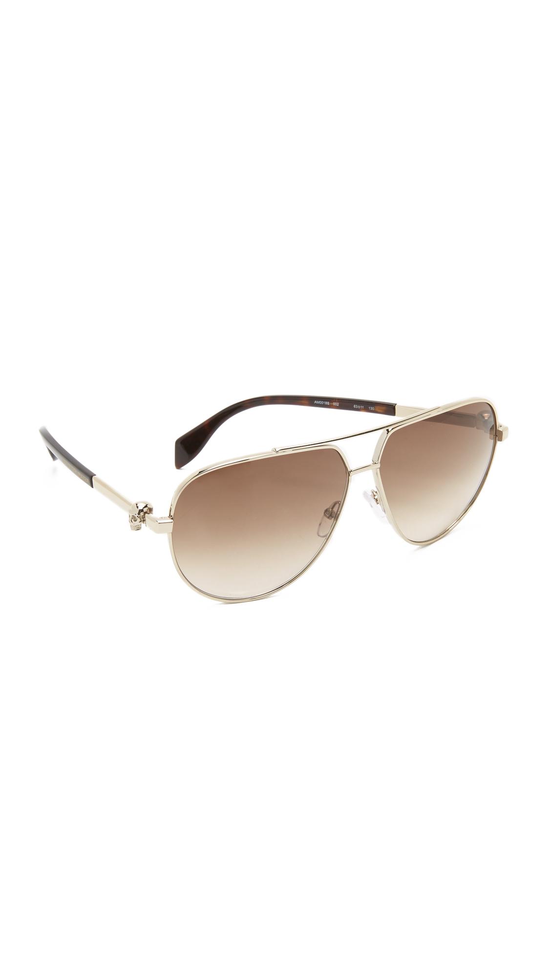 6c5f9d81129 Alexander McQueen Skull Aviator Sunglasses