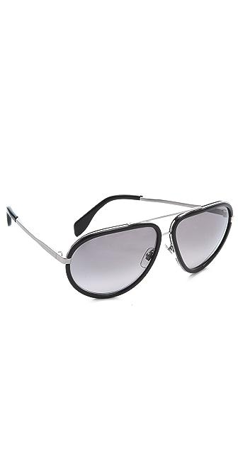 Alexander McQueen Oversized Aviator Sunglasses