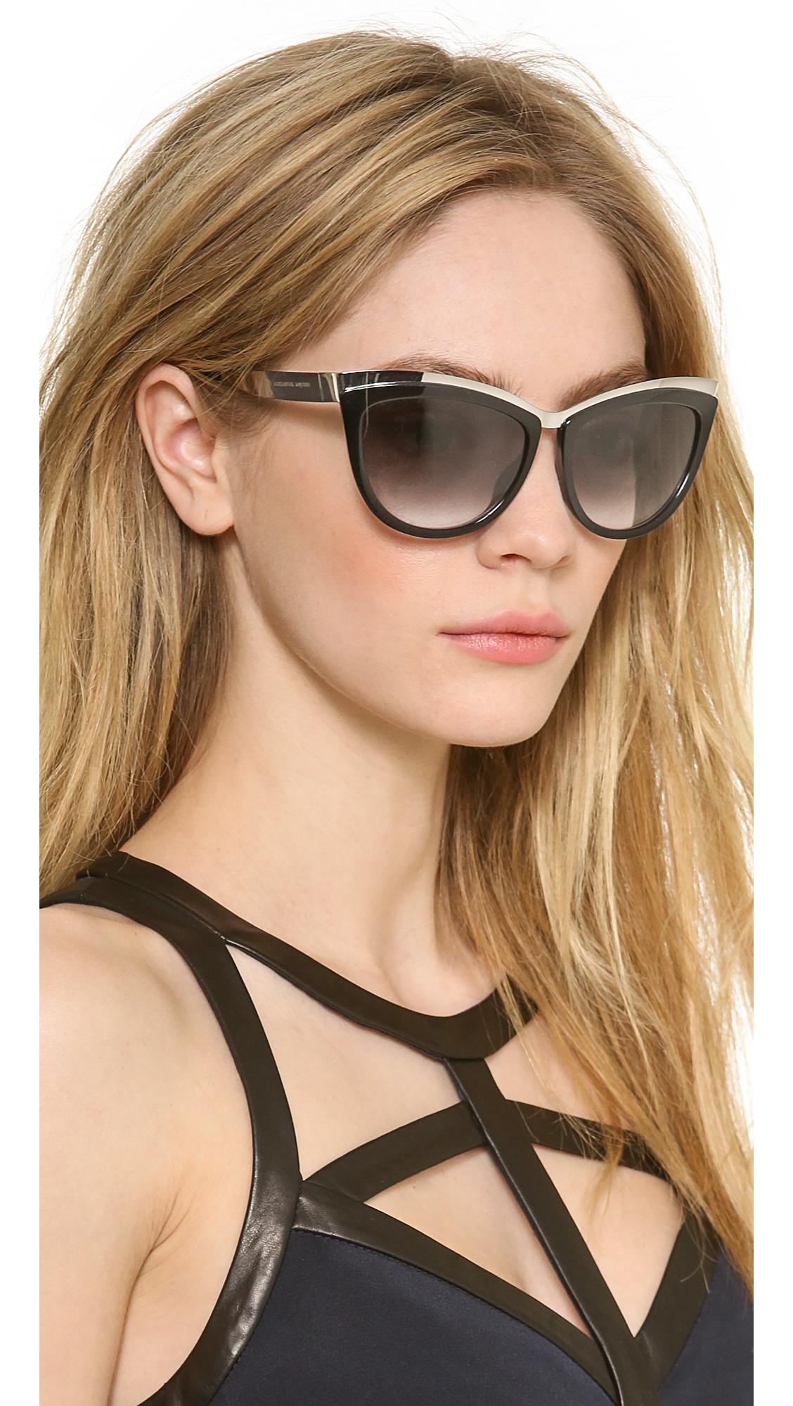 Cat Eye mirrored sunglasses Alexander McQueen 5v42WZy4
