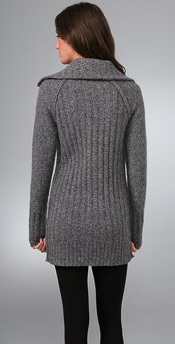 Ami Dans La Rue Funnel Neck Sweater Coat