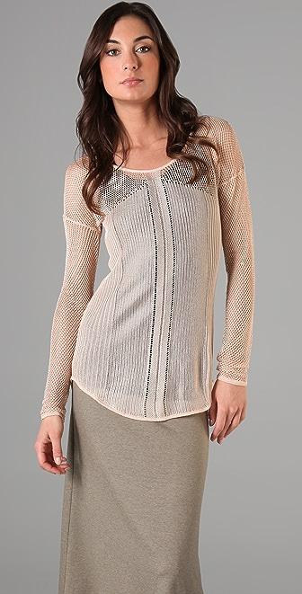 Ami Dans La Rue Open Knit Pullover Sweater