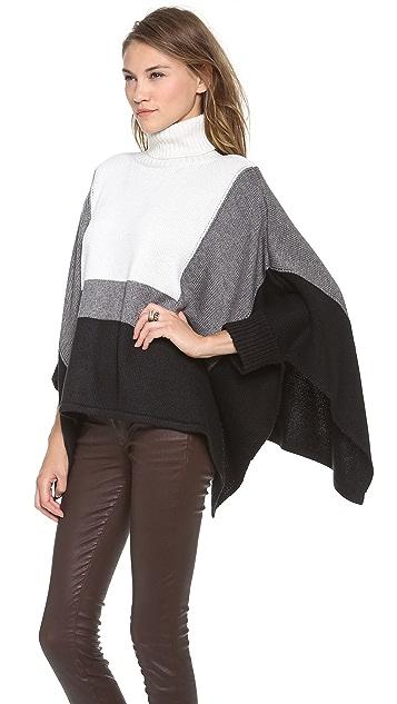 Ami Dans La Rue Colorblock Poncho Sweater