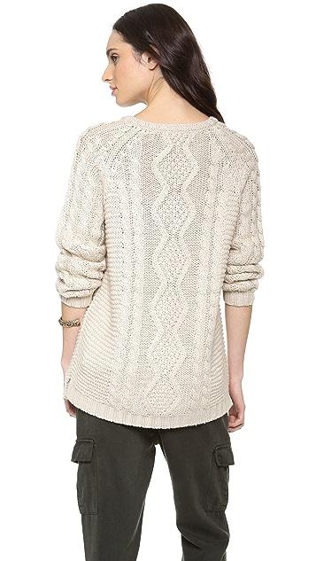 Ami Dans La Rue Cable Knit Sweater