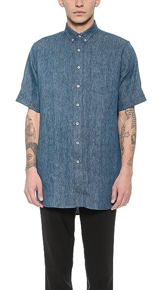 AMI Oversized Linen Shirt