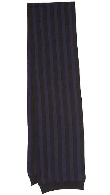 AMI Striped Scarf