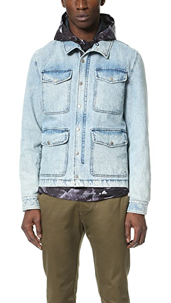 AMI Denim Military Jacket