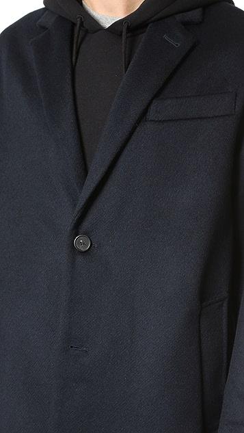 AMI 2 Button Oversized Coat