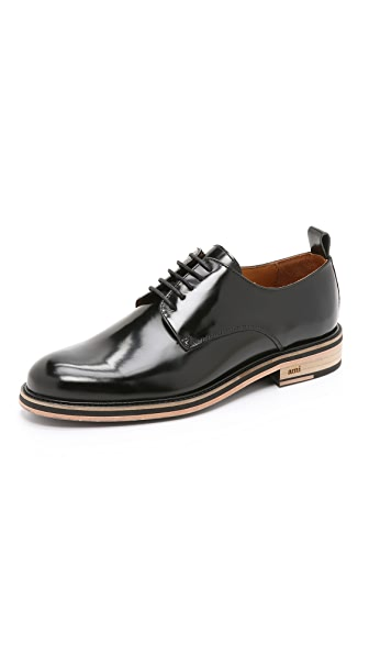 AMI Bicolor Sole Derby Shoes