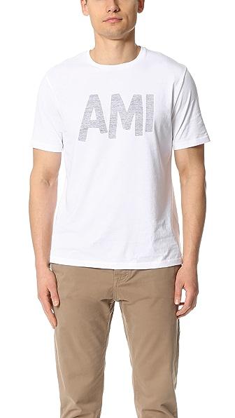AMI AMI Crew Neck Tee