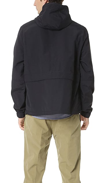 AMI Hooded Half Zip Jacket