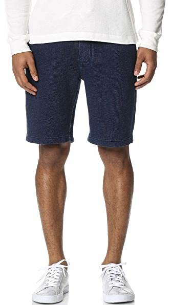 Alex Mill Indigo Fleece Shorts