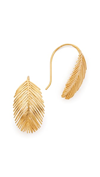 Alex Monroe Large Palm Hook Earrings