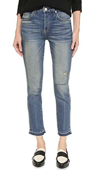 AMO Babe High Rise Cropped Slim Jeans - Dive Bar
