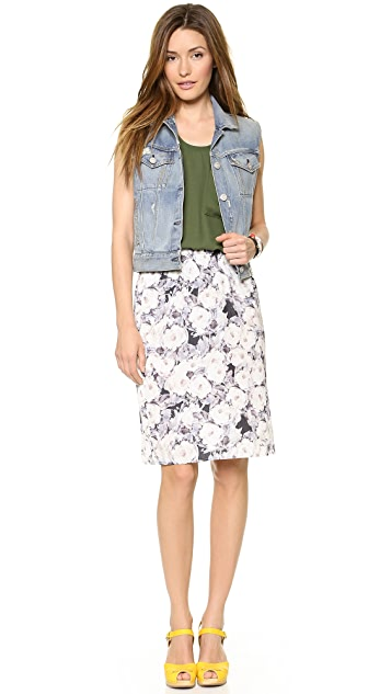 American Vintage Waco Print Knee Length Skirt